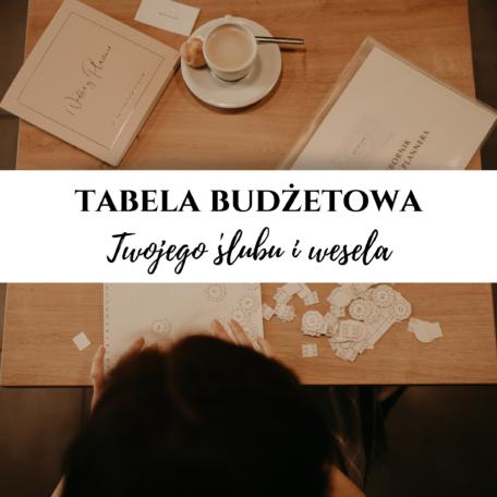 tabela budżetowa ślubu i wesela